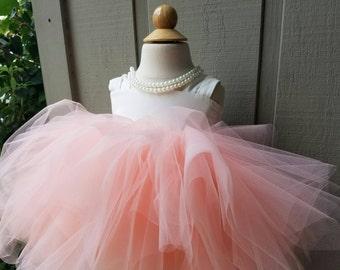 Lily Flower Girl Dress Knee Length, Full, tutu dress, lined, comfortable, girls dress, adjustable, weddings,