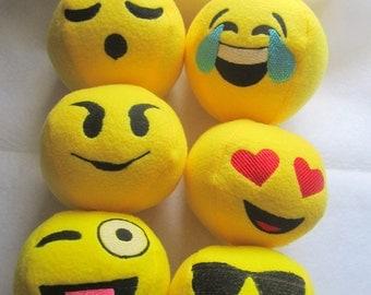 Emoji Snowballs Embroidery File Design Set 1 Instant download