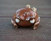 Hand thrown, ceramic Crab minion