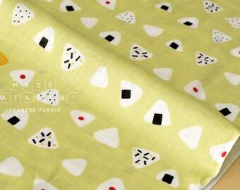 Japanese Fabric - onigiri double gauze - green - 50cm