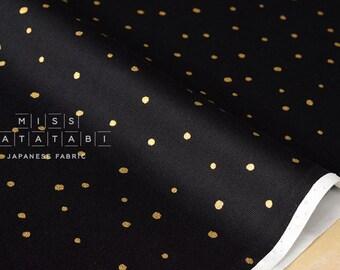 Japanese Fabric Starry Night - black, metallic gold - 50cm