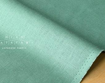 Japanese Fabric 100% linen - mint green -  50cm