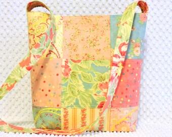 Poetry Fabric Patchwork Hobo Bag - Handmade Purse - Shabby Boho Floral Purse - Ladies Floral Handbag - Boho Chic Hobo Bag - Gift For Her