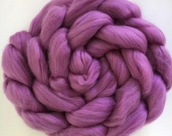VIOLET 4 oz Solid SuperWash Merino Wool Roving