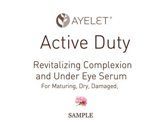 Revitalizing Complexion Serum|Under Eye Serum| Maturing Skin Serum| Dry Skin Serum| Moisturizing Serum| Damaged Skin| Face Elixir| Sample