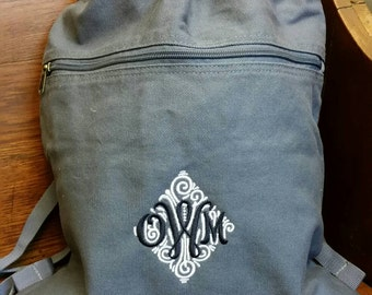 Personalized Pigment Pigment-Dyed Canvas Cinch Sack