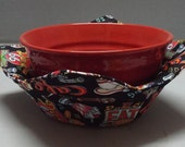 Microwave Bowl Cozy or Potholder Diner 66 Fabric