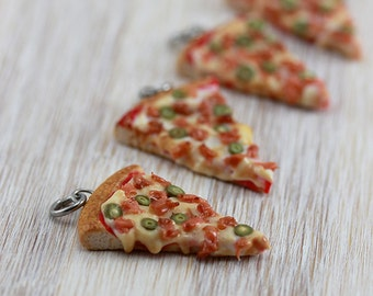 Bacon Pizza Pendant / Charm