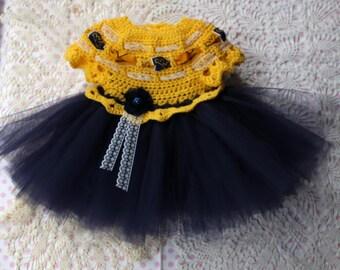 Crochet Dress Pattern - Tutu Dress Pattern - 12-18mo 2t-3t 4-5yr - Dress Shrug Pattern - KrissysWonders