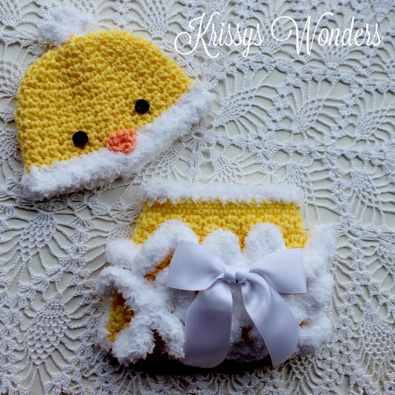 Newborn Crochet Chicken Hat Pattern : Crochet Hat Pattern Chicken Hat Diaper by PatternsByKrissy