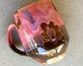 Custom listing for pfedderly1 Mod Floral mug, coffee mug, tea cup, handmade pottery mug