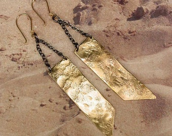 ELEMENT BLADE - Timelessly Classic Aged Bronze Earrings