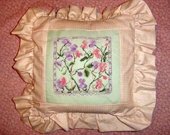 Sweet Peas Cross Stitch Pattern