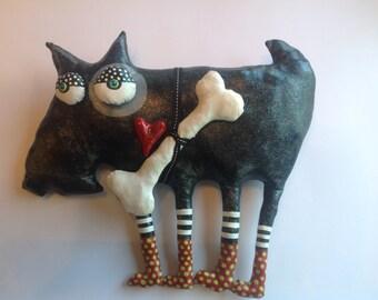 Custom Soft Sculpture Scottie dog