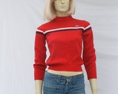 vintage 70s LACOSTE IZOD sweater | tiny cropped fit | XS