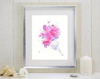 "Watercolor flowers art print: ""May Bouquet"""