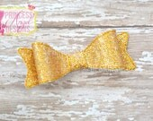 Gold Glitter Bow - 3D Bow - Girls Bow - Toddler Bows