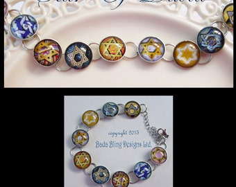 Star of David  bracelet...ready to ship with gift box, Star of David, Jewish jewelry, Hebraic jewelry, Hanukkah gifts