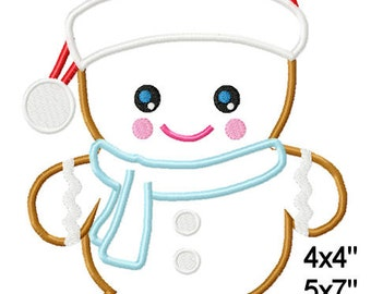 Santa Gingerbread Christmas Machine Embroidery Applique Design Pattern 4x4 5x7 6x10 7x11 INSTANT DOWNLOAD