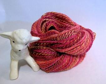 SALE! Sweet Peas, handspun wool yarn, 48 g/162 yds