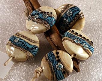 Lampwork  Art Beads by Jeanniesbeads 473
