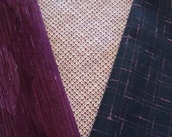 Pinkish Hues - Vintage Japanese Kimono Fabric 3 Sleeve Mix Bundle Crafting