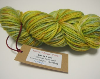 WORSTED WEIGHT hand dyed 100% wool yarn by Christine Jones