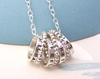 Personalised Sterling Silver Hoops
