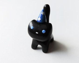 Cute Magical Wizard Black Cat Figure