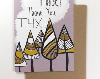 NEW! Thank you card TREES