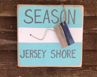 Wood Handpainted Jersey Shore Season Beach Badge