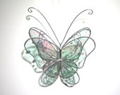 Heavenly Wings - 3D Stained Glass Butterfly Twirl -  Medium Shimmering Home and Garden Decor Hanging Suncatcher Yard Art (READY TO SHIP)