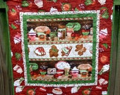 Sugar and Spice quilt table topper table runner wall hanging - reduced