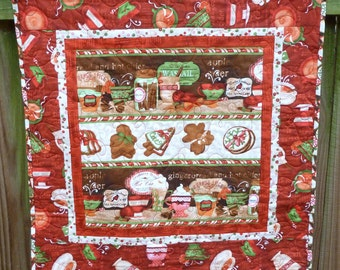 Sugar and Spice Table Topper Table Runner Wall hanging quilt - reduced