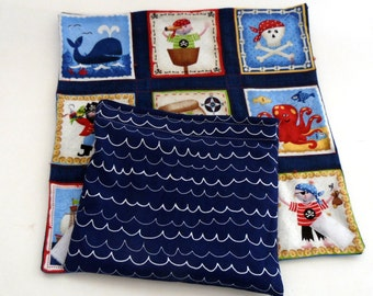 Pirate Snack Bag and Sandwich/Bagel Wrap, Waterproof & Food Safe Pirate Sandwich Wrap with Snack Bag, Reusable Sandwich Wrap and Snack Bag