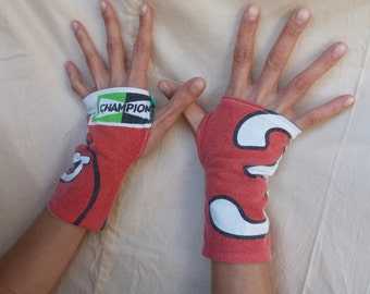 "Arm warmers fingerless mittens ""Champion"""