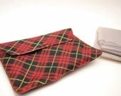 Plaid Pouch with Blow Up Camping Pillows vintage Camping Gear Travel Trailer Camper