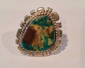 Exotic Sterling silver turquoise ring