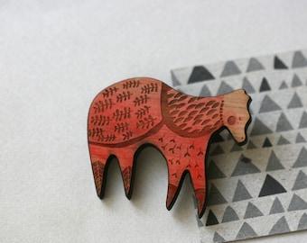 Dancer Bear -  Wooden Pin