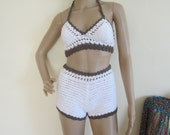 CROCHET SHORTS, festival clothing, white shorts, highwaist shorts, crochet highwaist shorts, summer shorts,  beach shorts, gypsy, boho
