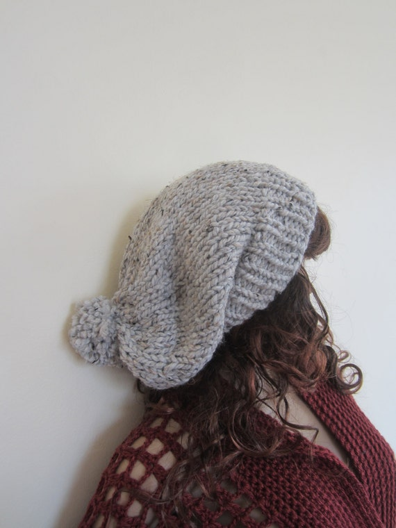 KNIT SLOUCHY BEANIE dreadlock beanie womens hat Ribbed