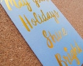 Shine Bright Letterpress & Gold Foil Holiday Card // Set of 6 // 1551B