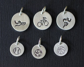 Sterling Silver Sports Charms
