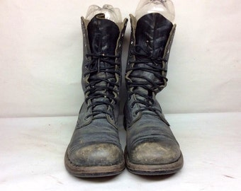 Vintage mens unbranded military boots. size 9R