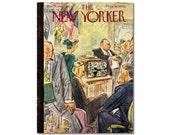 New Yorker Magazine Cover ONLY Vintage Original artist Barlow 10-30-48 Election time
