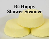 Be Happy Shower Steamer -  Aromatherapy Shower Tablet - Essentail Oil - Gift For Her - Gift For Him - Gift for Coworker - Stocking Stuffer