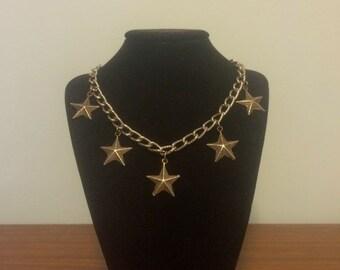 Handmade Choker Punk Star necklace