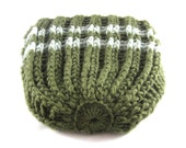 Winter Sale - Wandern Hut, Herren häkeln Beanie, Stoner Accessoire, Frauen Häkelmütze, Merinowolle, Schattierungen von Grün - der Uni