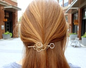 Hair Ware // Mini Honeycomb Brass Handmade Hair Bun Slide Pin