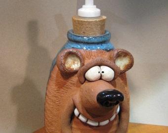 Happy Bear Soft Soap or Lotion bottle ....   e828